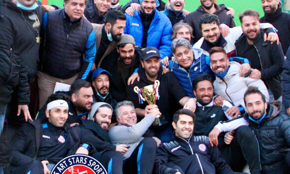 قهرمانی تیم فوتبال ستارگان هنر ایران